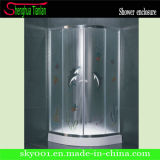 Low Tray Quadrant Glass Double Sliding Shower Enclosure (TL-535)
