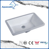 Bathroom Undermount Square Lavatory Ceramic Basin (AB016)
