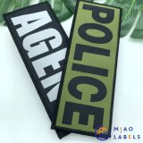 Guangzhou Factory Price Professional Custom High Quality Flat Woven Patches & Badges with Velcro