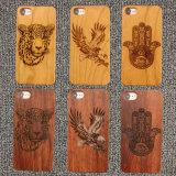 Cherry Wood Natural Carved Wood Mobile Phone Case for Oneplus 5