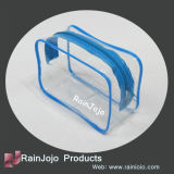 Colored Transparent PVC Cosmetic Bag with Zipper