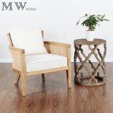 Accent Round Quatrefoil Antique Wood End Side Table