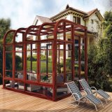 Aluminum Alloy Frame Material and Tempered Glass Roof Material Garden Sun Room
