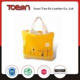 Fashion Yellow Canvas Beach Bag