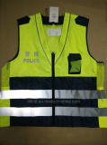 Durable Safety Vest for Police with Hi-VI Reflective Tape