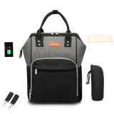 Multi-Function Large Capacity Canvas Daypack Travel Backpack Diaper Bag
