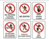 Plastic Prohibit Reflective Aluminum Traffic Road Safety Warning Sign