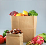 Cheap Recycled Food Packaging Shopping Brown Paper Bag with Twisted Handles