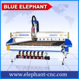 Ele 2030 Best Price CNC Door Machine, 3D CNC Wood Router with Atc Water Cooling Spindle