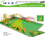 New Design Wooden Climbing and Swing Children Playground System (HC-11602)