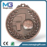 Professional Bulk Production 3D Basketball Sport Medal with Antique Copper Finished