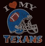 Texan Football Bling Rhinestone Transfer