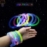 LED Luminous Bracelet, Acrylic Bracelet LED Flash Bracelet Luminous Bracelet for Party and Evening Show