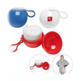 Wholesale Cheap Disposable Emergency PE Rain Poncho in Ball with Keychain
