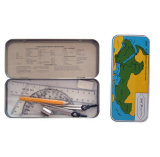 Portable 8 Pieces School Maths & Geometry Stationery Set for School and Office