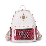 The Newest Retro Punk Rivet Leather Women Fashion Backpack