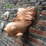 Granite Marble Stone Fountain Carving Fish Sculpture for Wall Decoration