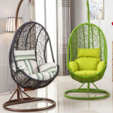 Patio Rattan Egg Shaped Swing Chair Wicker Hanging Single Seat Swing Chair (D031)