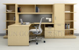 L Shape Office Table Boss Desk with Wall Bookshelf (SZ-OD223)
