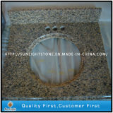 Cheaper Tiger Skin Yellow Granite Vanity Tops/Countertops for Bathroom