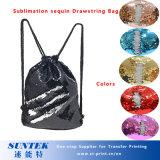 Sublimation Blank Sequin Mermaid Drawstring Backpack Bag Shoulder Bag Satchel