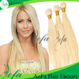 Silky and Fashion #613 Blonde Straight Human Hair Weave