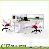 2 Seats Aluminum Office Partition with 3 Drawers Pedestal (CD-88808)