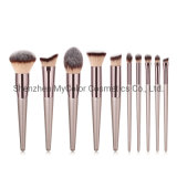 Cruelty-Free Makeup Brush Set Luxury 10PCS Eyeshadow Foundation Blush Cosmetics Brush Tools