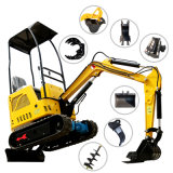 1 Tons Smallest Mini Crawler Digger Earth Moving Excavator Rubber Truck Soil Digger