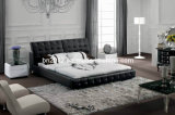 Hot Selling Genuine Leather Bed (SBT-5828)