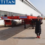 Titan 40 Feet China Cheap Flatbed Container Truck Semi Trailer