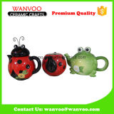 Ladybird and Frog Animal Shape Ceramic Teapot for Tableware
