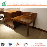 Plywood with Solid Wood Hotel Furniture of Twin Bedroom Set