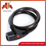Jq8206 High Quality Security Bicycle Lock Motorcycle Steel Cable Lock with Pvu