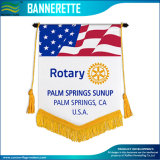 Stylish Custom Bannerette Pennants Flags Printed on Satin Polyester (T-NF12F10007)
