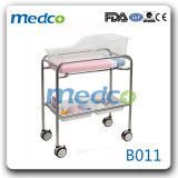 China Supplier Hospital Baby Crib/Cot (Stainless steel) with Mattress