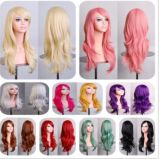 Cos Europe Wig Explosion Animation Wig Million with Long Curly Hair Color 70cm