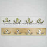 High-Grade Beautiful Clothes Hook Wooden & Metal Board Hook (ZH-7005)