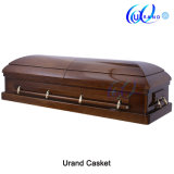 Veneer High Gloss Asia Chinese Velvet Casket and Coffin