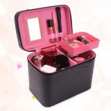 Upgrade New Style Croco Leather Portable Cosmetic Storage Box, Large Capacity Travelling Cosmetic Box/Case with Multicolor Selection