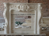 Stone Sculpture White/Beige Marble Fireplace Carving for Factory Price