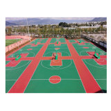 Customized Silicon PU Sports Court Outside Elasticity Basketball/Volleyball/Badminton/Tennis Courts Floor