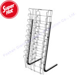 Cheap Metal Floor Wire Mesh Journal Display Holder Library Folding Magazine Rack