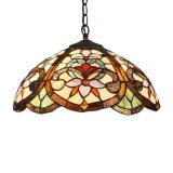 Tfp-1801 Tiffany Style Floral Victorian 2-Light Ceiling Pendant Lamp