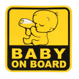 High Quality Baby on Board Sign Vehicle Car Accessories Reflective Magnetic Sticker