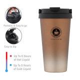 Custom Logo 500ml Double Wall Stainless Steel Coffee Thermos Creative Vehicle Coffee Tumbler Mugs with Bounce Lid