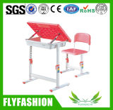 School Furniture Adjustable Single Student Desk with Chair (SF-13S)