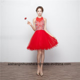 Women Red Short Homecoming Dresses with Crystals Prom Dress