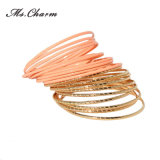 Gold-Color Luxury Brand Alloy Bangles Set Fashion Jewelry