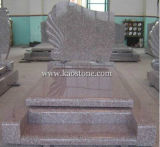 European Granite Tombstone with Polished Surface